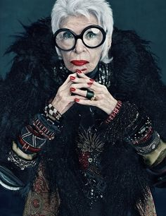 Ever fabulous, Iris Apfel