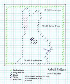 Plastic Canvas Rabbit Pattern