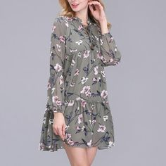 ElaCentelha Women Summer Autumn Dress Tops Print Floral Woman Dress Ethnic Plus Size Loose Bandage Boho Vintage Causal Dresses-in Dresses from Women's Clothing & Accessories on Aliexpress.com | Alibaba Group
