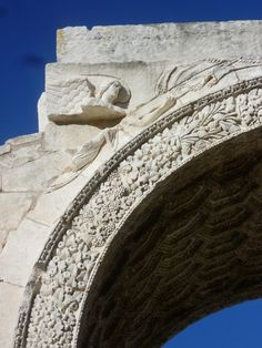 detail - Triumphal Arch of Glanum at San Remy in Provence, France