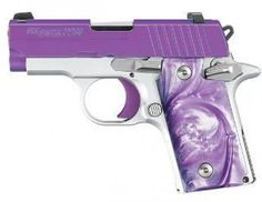 The Sig P238 Purple Passion with arctic frost frame and purple Cerakote slide: http://www.guns4gals.com/Sig-Sauer-P238-Purple-Passion-on-Guns4Gals-com-p/sp238380pp.htm
