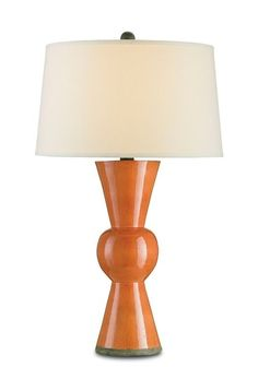 A beautifully symmetrical piece that provides a vibrant splash of color, the Upbeat Table Lamp in Orange is a versatile and stylish element.
