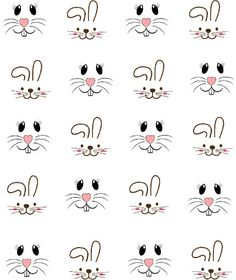 Bunny Faces Waterslide Nail Decals / Nail Shaping Haircuts for . - Bunny Faces Waterslide Nail Decals / Haircuts for every face, make-up for every sausage skin, again - Bunny Crafts, Easter Crafts, Crafts For Kids, Easter Decor, Easter Ideas, Art Crafts, Bow Nail Art, Star Nail Art, Bunny Face