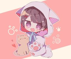 Anime Neko, Kawaii Anime, Cute Anime Chibi, Kawaii Chibi, Anime Art, Neko Boy, Chibi Boy, Vocaloid, Cool Anime Girl