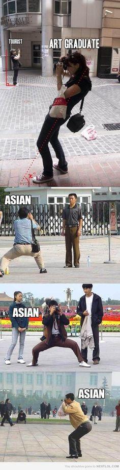 Tourist vs Art Student vs Asian Photography art student, asian, tourist, photographer, photography