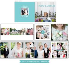 Clean Style Wedding Album template is part of Scrapbook Layout Wedding Etsy - 11 PSD files Details