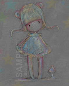 """Scribble"" by Suzanne Woolcott, aka Gorjuss"