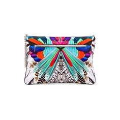 Camilla Large Canvas Clutch Bags ($150) ❤ liked on Polyvore featuring bags, handbags, clutches, beaded clutches, beaded handbags, canvas purse, fringe handbags and canvas handbags