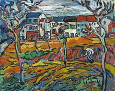Houses at Chatou (1905) Maurice de Vlaminck