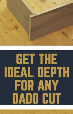 Dadoes provide an excellent way to join cabinet sides to shelves, but in order for the joint to be strong the dado cut needs to be right. There are two common conventions for determining the depth of a dado cut, and we'll explain them here.