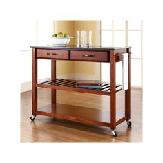 Crosley Furniture Black Granite Top Kitchen Cart, Other Clrs