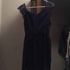 Blue lace dress Never worn before! Bought as a bridesmaids dress, but went with longer dresses. Nothing wrong with it! Dresses Mini