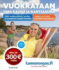 Lomarenkaalla on yli 3800 kohdetta Suomessa!