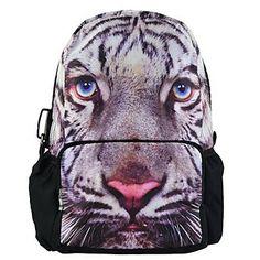 Printing Backpack Big Zipper Shoulder Bag Schoolbag Gym Knapsack Rucksack Traveling Bag