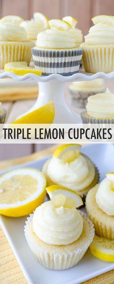 Tender lemon cupcakes filled with tangy homemade lemon curd and topped with a sweet, creamy lemon buttercream. A lemon lover's dream! Lemon Cupcakes, Vanilla Cupcakes, Chocolate Cupcakes, Mini Cupcakes, Strawberry Cupcakes, Birthday Cupcakes, Lemon Buttercream, Buttercream Filling, Baking Science