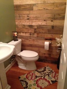 Creative 41 Diy Pallet Bathroom Walls Ideas 85 My New Bathroom Loving the Pallet Wall 8 Pallet Wall Bathroom, Pallet Walls, Laundry In Bathroom, Small Bathroom, Pallet Furniture, Downstairs Bathroom, Garage Bathroom, Rustic Bathrooms, Bathroom Interior