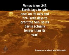 Venus is one strange world.  Bite-sized, mind blowing space facts about the Universe and the cosmos. Whether you're new to astronomy / astrophysics or not, check us out @ https://www.instagram.com/thespacekiosk/    Image: NASA