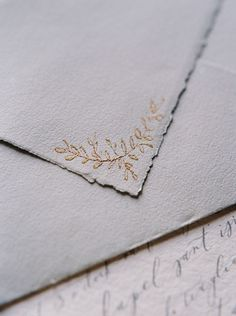 Wedding invitation envelope details.