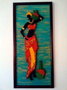 cuadros de negras africanas en relieve