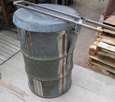 Burn Barrel by pursang -- Building a yard waste burn...