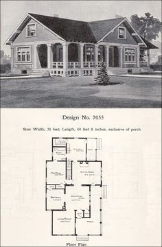 1908 Wilson & Girod Catalog by William A. Radford Co. Great website for old house plans Cottage Plan, Cottage Homes, Small House Plans, House Floor Plans, Small Bungalow, Vintage House Plans, Cottages And Bungalows, Second Empire, Craftsman Bungalows