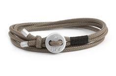 Image of Men's bracelet Cross paracord rope desert