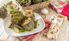 Menu di Natale dall'antipasto al dolce Artichoke, Sprouts, Stuffed Mushrooms, Meat, Vegetables, Ethnic Recipes, Carne, Antipasto, Food