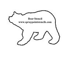 free printable stencils for quilting - - Yahoo Image Search Results Bear Stencil, Animal Stencil, Stencil Diy, Stencil Painting, Free Stencils, Printable Stencils, Sponge Painting, Bear Art, Rustic Signs