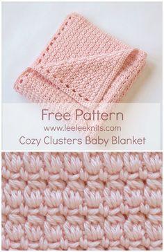 free crochet baby blanket pattern - cozy clusters