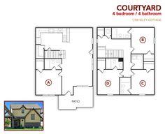 4 bedroom, 4 bath Courtyard