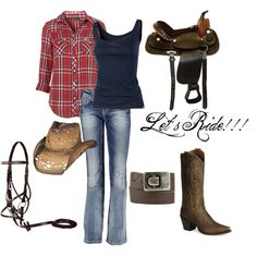 Cowgirl up, created by Chrysie on Polyvore