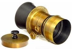 Cone Centralisateur Lens by Jamin. It was a variation of the Petzval formula, the fastest lens of its time (1840's), with an aperture of around f3.5 - compared to the typical ~f16 or more of typical contemporary camera lenses.