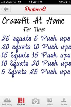 Crossfit at home