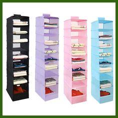 9 Cell Hanging Organizers Oxford Clothes Storage Door Wall Closet Organizadores Bag Container