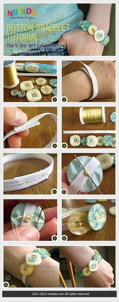 Button Bracelet Tutorial - How to Deal with Bulk Buttons – NbeadsYou can find Button bracelet and more on our website.Button Bracelet Tutorial - How to Deal with . Button Art, Button Crafts, Crafts With Buttons, Bulk Buttons, Jewelry Crafts, Handmade Jewelry, Handmade Items, Handmade Gifts, Button Necklace