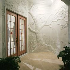 Classical relief sculpture made from overlays and plaster - Concrete Decor