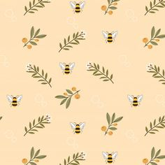 Aesthetic Patterns Discover Bee And Flower On Yellow Background Seamless Pattern Bee and flower on yellow background seamless pattern Premium Vector Iphone Background Wallpaper, Pastel Wallpaper, Ipad Background, Yellow Background, I Wallpaper, Background Patterns, Seamless Background, Vector Background, Aesthetic Backgrounds