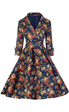 Looking for effortless romance  This Vintage Floral Printing Belted Dress  is exactly the piece you bf0881261