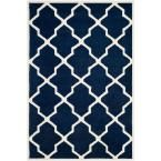 Safavieh Amherst Navy/Beige 4 ft. x 6 ft. Area Rug - AMT423P-4 - The Home Depot