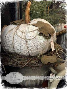 **My Desert Cottage**: Sweet Salvage- Rustic Remains Velvet Pumpkins, Fabric Pumpkins, White Pumpkins, Fall Pumpkins, Sweater Pumpkins, Halloween Shadow Box, Fall Halloween, Halloween Pumpkins, Halloween Crafts