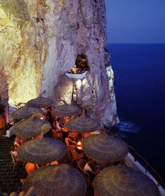 Cova d'en Xoroi on the Spanish island of Menorca. It's a night club in a cliffside cave.