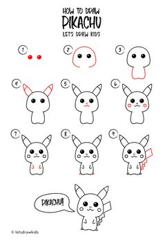 How to draw Pikachu. Easy drawing, step by step, perfect for kids! Let's draw kids.