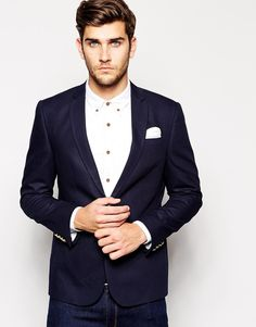 Slim Fit Blazer With Gold Buttons  #Fashion #Men #Blazer #Slim  See more or buy: http://mckayfashion.eu/ss/item/55e9c6a17fa561b8395d1d1b