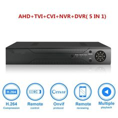 Hybrid AHD DVR Analog TVICVI CCTV 8 channel Standalone dvr Quick QR Code Scan w Easy Remote View Home Security Surveillance Camera System -- To view further for this item, visit the image link-affiliate link. Surveillance Equipment, Security Surveillance, Surveillance System, Remote Viewing, Software Support, Security Cameras For Home, Menu, Free Shipping, Analog Signal