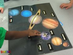 Try this FUN way to teach planets to young students... have them place the planets in their actual order.
