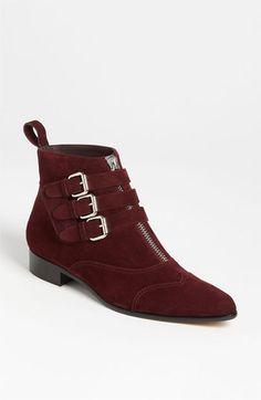 tabitha simmons zip buckle booti