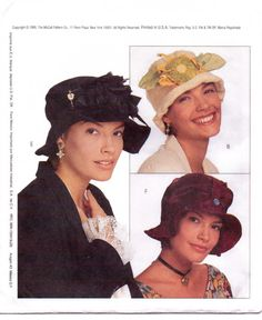 McCalls Fashion Accessories Pattern 7483