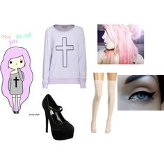pastel goth, created by cookiemonstergoesroar on Polyvore