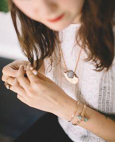 Horizon Necklace | Hand-Sawed Copper w/ Fire Agate Sphere | Lavender Lilac Purple Stone