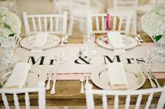 Mr. and Mrs. Table Runner